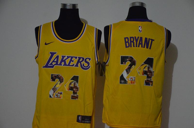 Lakers 24 Kobe Bryant Yellow Nike Swingman Fashion Jersey