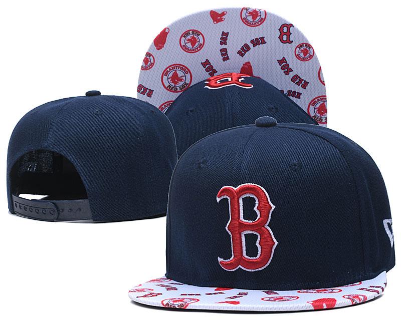 Red Sox Team Logo Navy White Adjustable Hat TX
