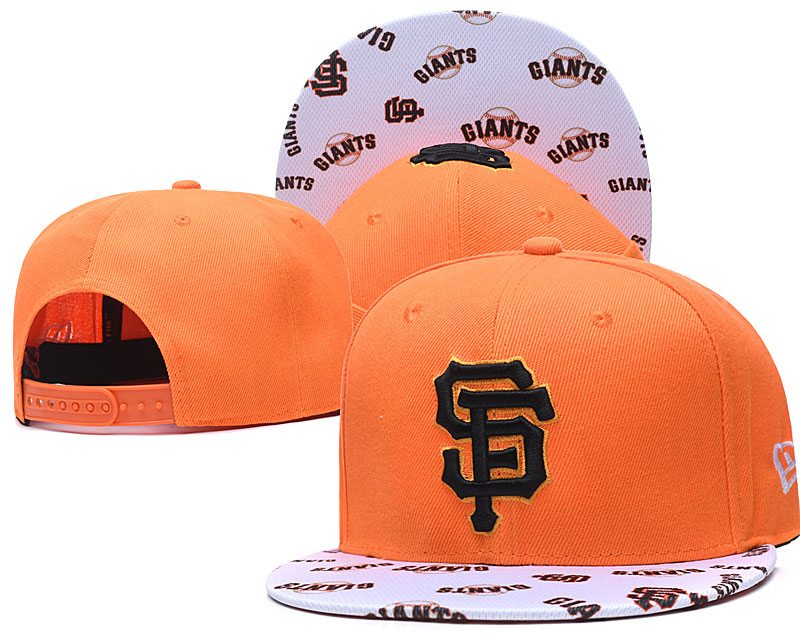 San Francisco Giants Team Logo Orange White Adjustable Hat TX