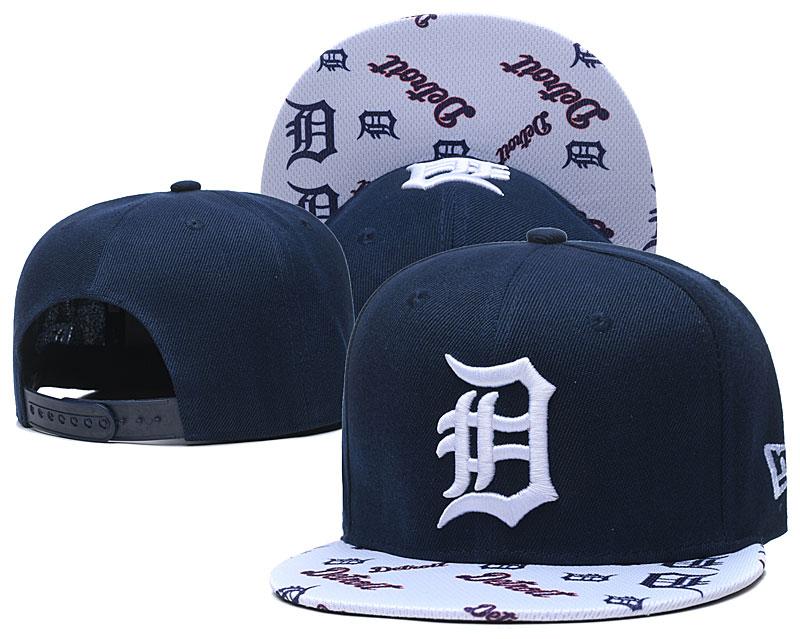 Tigers Team Logo Navy White Adjustable Hat TX
