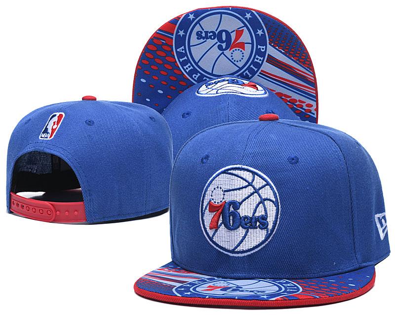 76ers Team Logo Blue Adjustable Hat LH