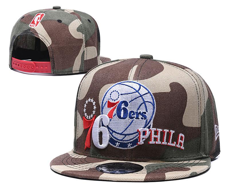 76ers Team Logo Olive Adjustable Hat LH