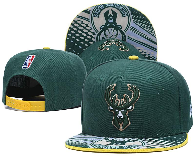Bucks Team Logo Green Adjustable Hat LH