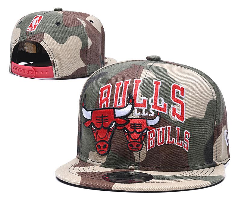 Bulls Team Logo Olive Adjustable Hat LH