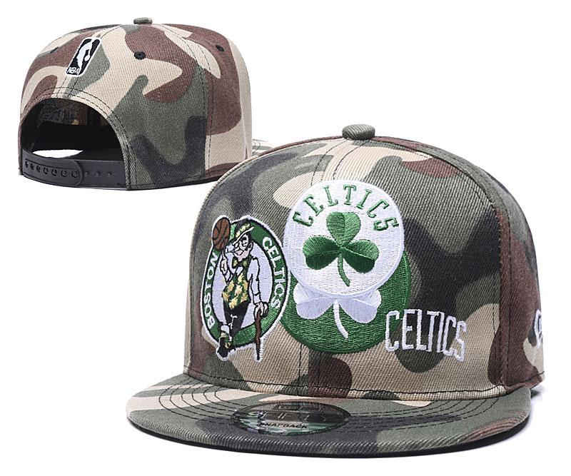 Celtics Team Logo Olive Adjustable Hat LH