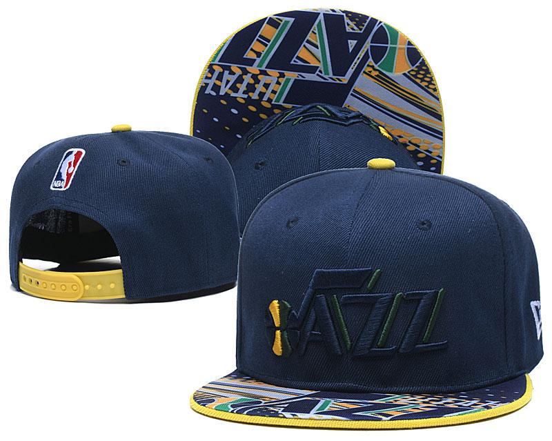 Jazz Team Logo Navy Adjustable Hat LH