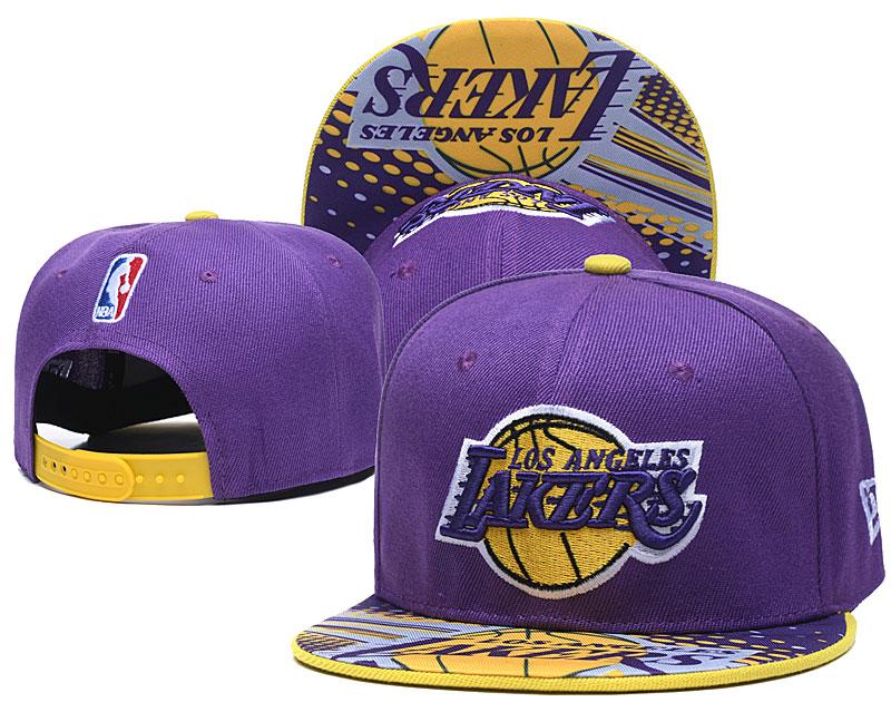 Lakers Team Logo Purple Adjustable Hat LH