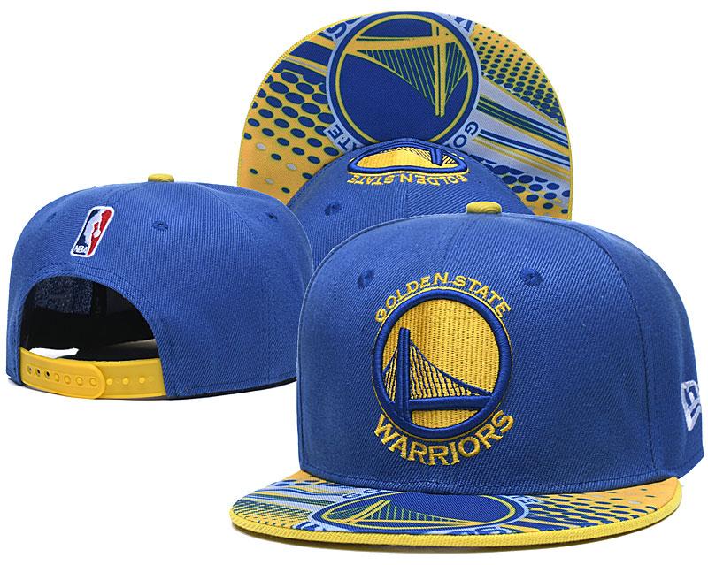 Warriors Team Logo Blue Adjustable Hat LH