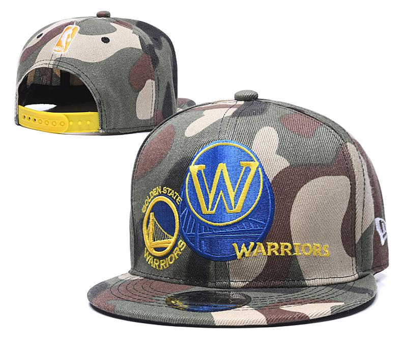 Warriors Team Logo Olive Adjustable Hat LH