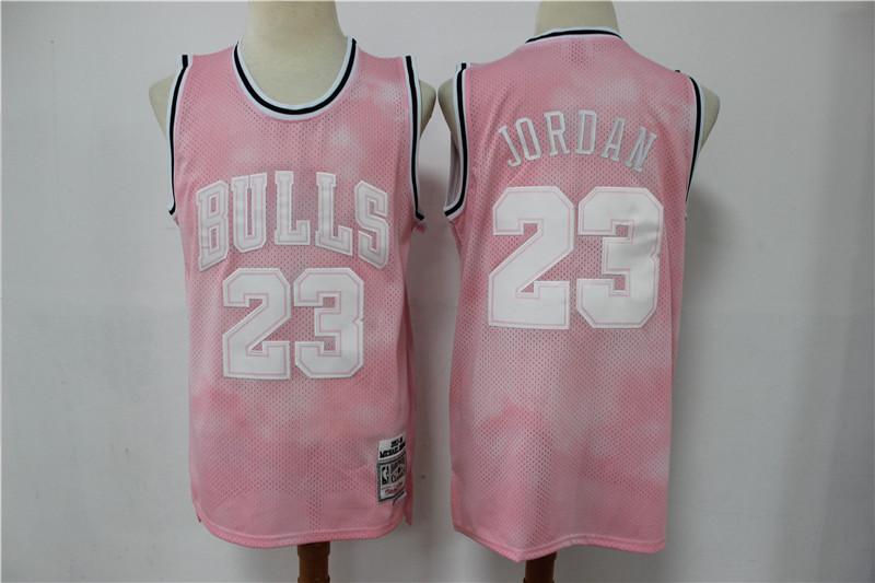 Bulls 23 Michael Jordan Pink 1997-98 Hardwood Classics Jersey