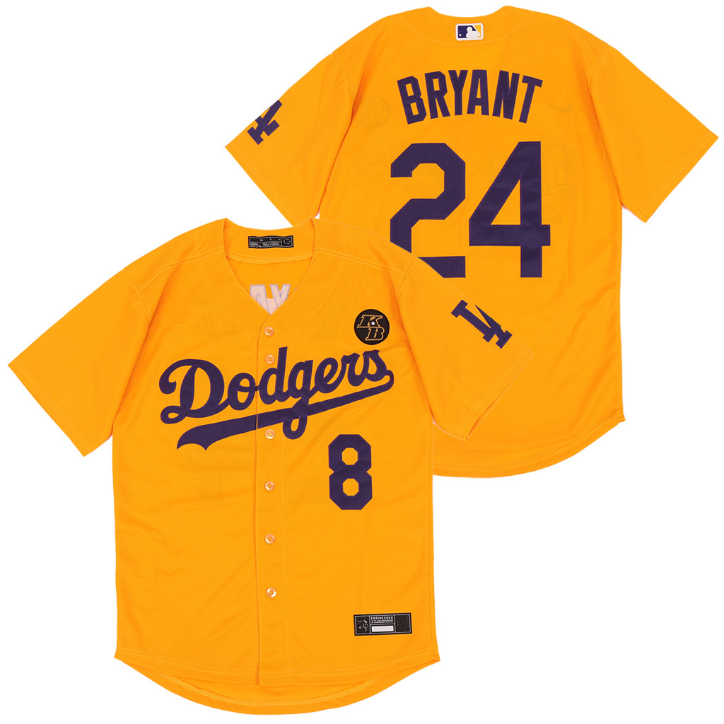 Dodgers 24 Kobe Bryant Yellow 2020 Nike KB Cool Base Jerseys
