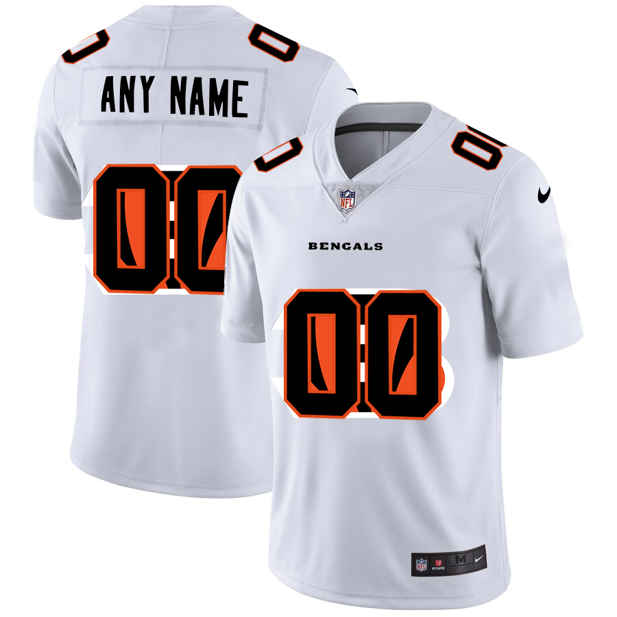 Nike Bengals Customized White Team Big Logo Vapor Untouchable Limited Jersey