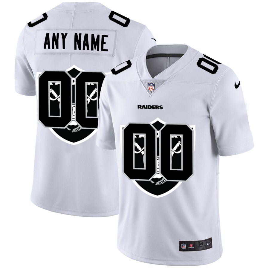 Nike Raiders Customized White Team Big Logo Vapor Untouchable Limited Jersey