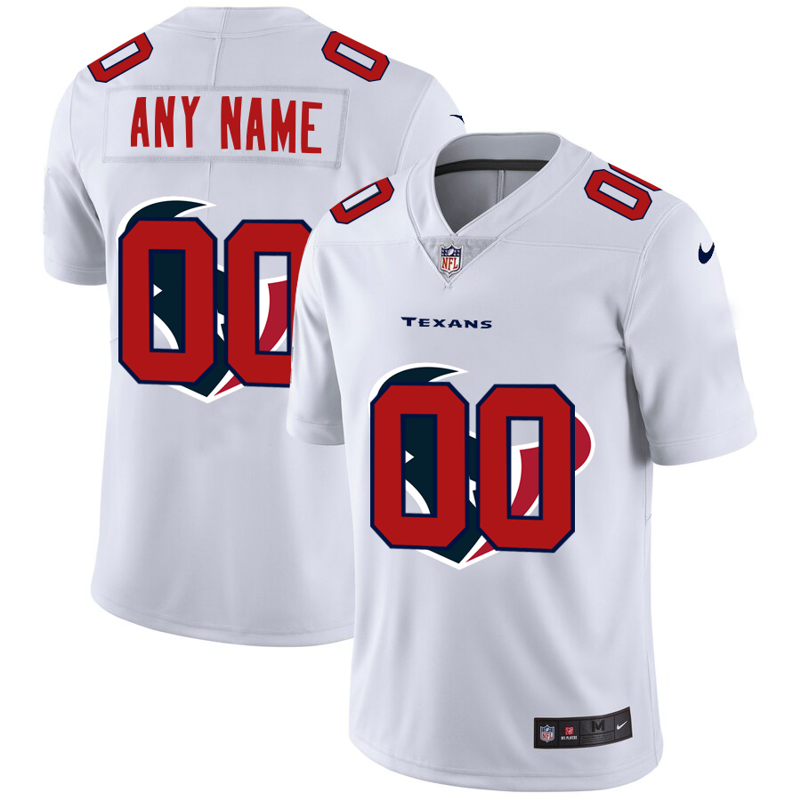 Nike Texans Customized White Team Big Logo Vapor Untouchable Limited Jersey