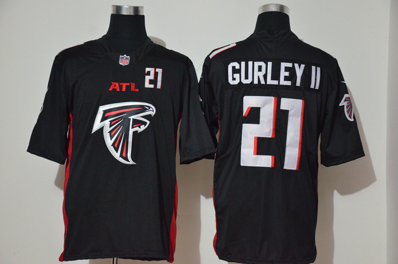 Nike Falcons 21 Todd Gurley II Black Team Big Logo Number Vapor Untouchable Limited Jersey