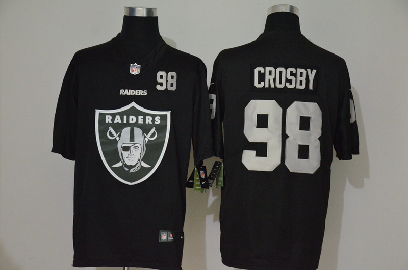 Nike Raiders 98 Maxx Crosby Black Team Big Logo Number Vapor Untouchable Limited Jersey