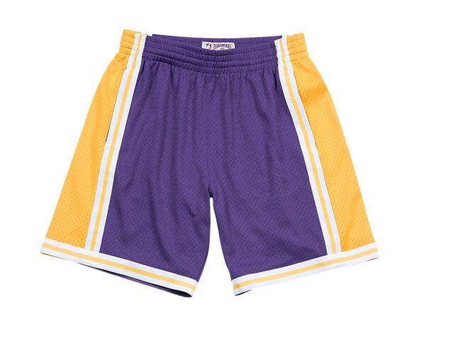 Lakers Purple Hardwood Classics Shorts