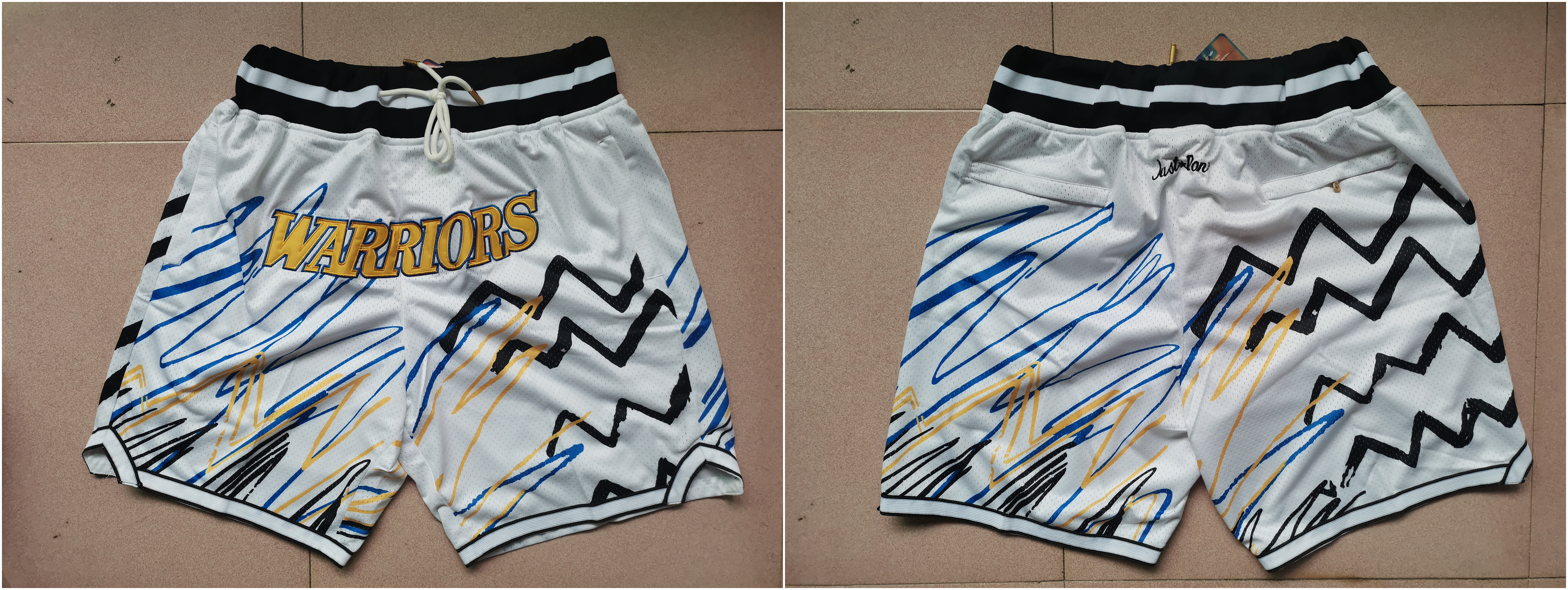 Warriors White Just Don With Pocket Swingman Shorts