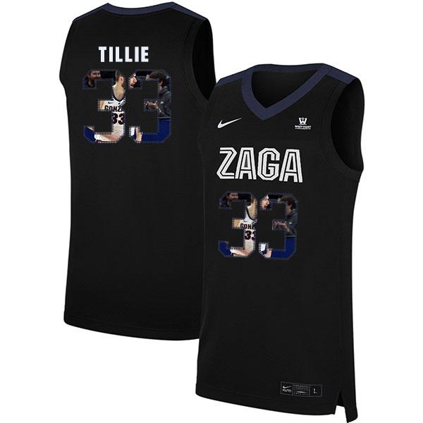 Gonzaga Bulldogs 33 Killian Tillie Black Fashion College Basketball Jersey