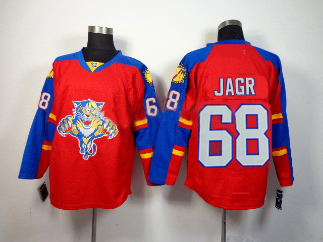 Panthers 68 Jagr Red Jersey