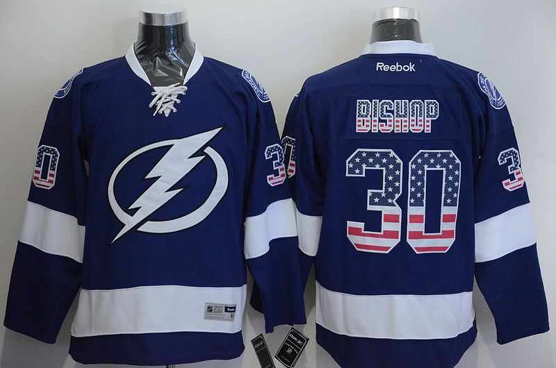 Lightning 30 Bishop Blue US Flag Reebok Jersey