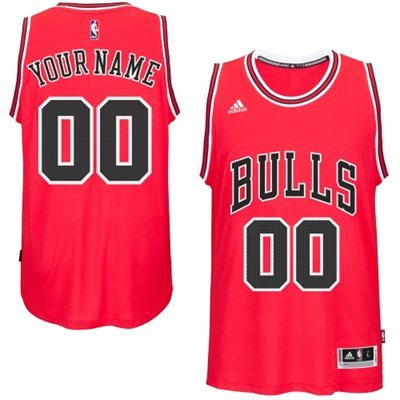 Chicago Bulls Red Men's Customize New Rev 30 Jersey