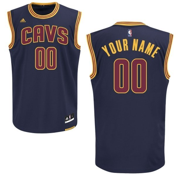 Cleveland Cavaliers Blue Men's Customize New Rev 30 Jersey