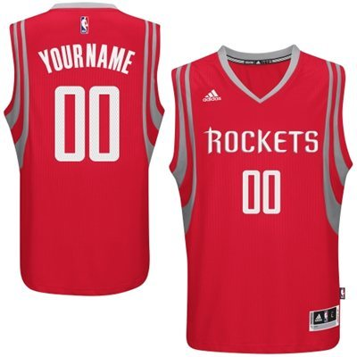 Houston Rockets Red Men's Customize New Rev 30 Jersey