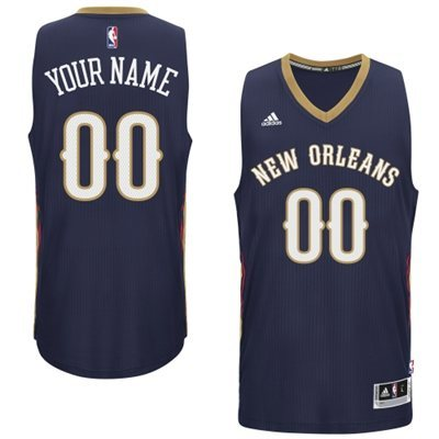 New Orleans Pelicans Blue Men's Customize New Rev 30 Jersey