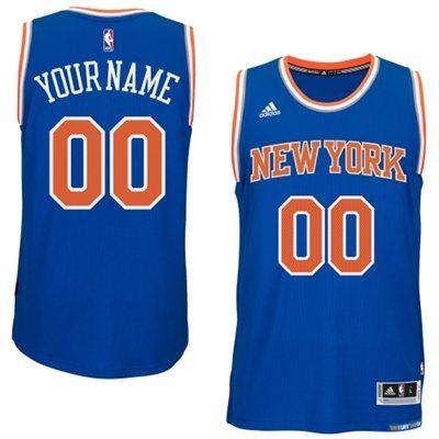 New York Knicks Blue Men's Customize New Rev 30 Jersey
