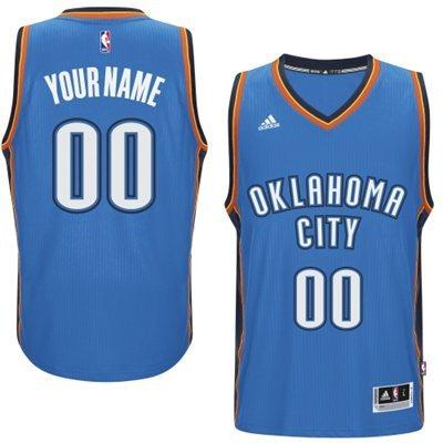 Oklahoma City Thunder Blue Men's Customize New Rev 30 Jersey