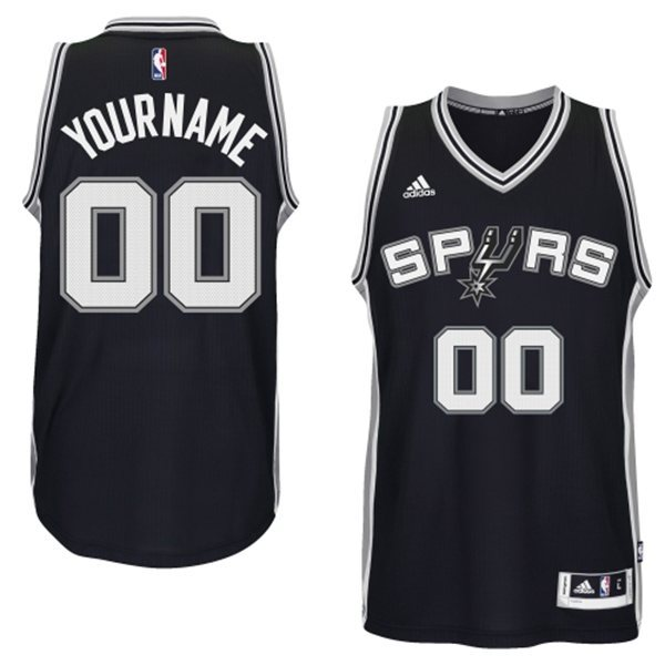 San Antonio Spurs Black Men's Customize New Rev 30 Jersey