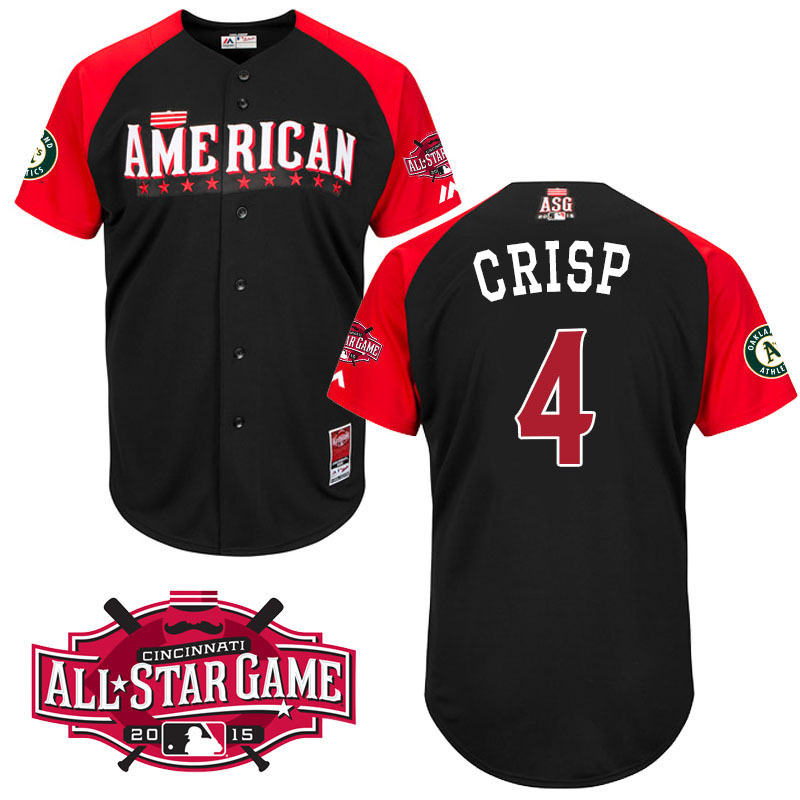 American League Athletics 4 Crisp Black 2015 All Star Jersey
