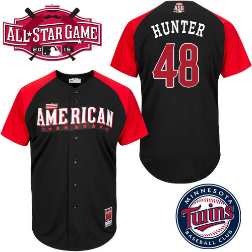 American League Twins 48 Hunter Black 2015 All Star Jersey