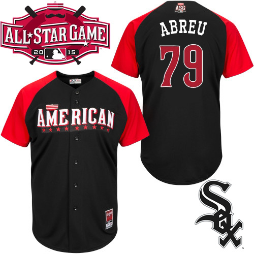 American League White Sox 79 Abreu Black 2015 All Star Jersey