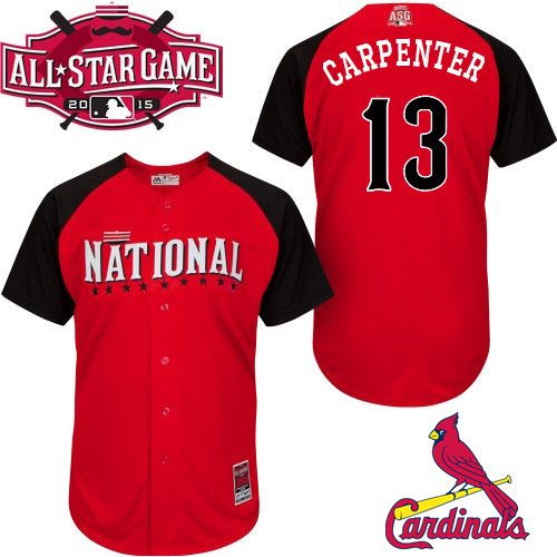 National League Cardinals 13 Carpenter Red 2015 All Star Jersey