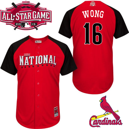 National League Cardinals 16 Wong Red 2015 All Star Jersey