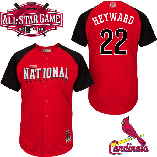 National League Cardinals 22 Heyward Red 2015 All Star Jersey