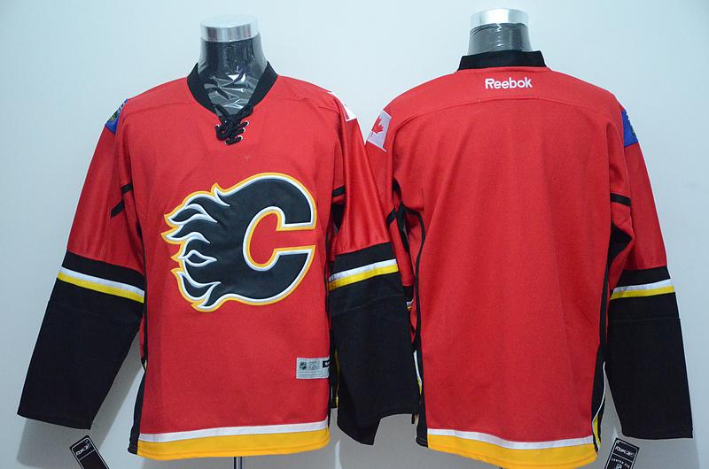 Flames Blank Red Reebok Jersey