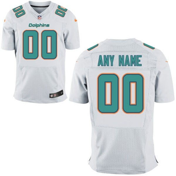 Nike Miami Dolphins Customized New Elite White Jerseys