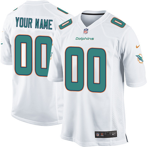Nike Miami Dolphins Customized New Game White Jerseys