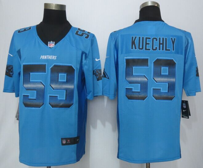 Nike Panthers 59 Kuechly Blue Pro Line Fashion Strobe Jersey