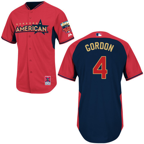 American League Royals 4 Gordon Red 2014 All Star Jerseys