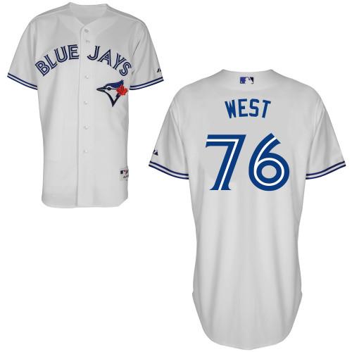 Blue Jays 76 West White Cool Base Jerseys
