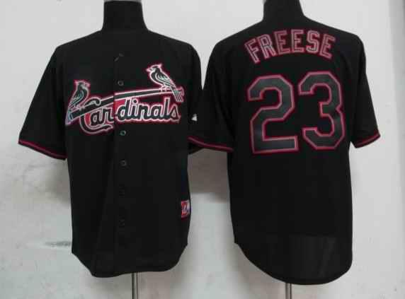 Cardinals 23 Freese Black Fashion Jerseys