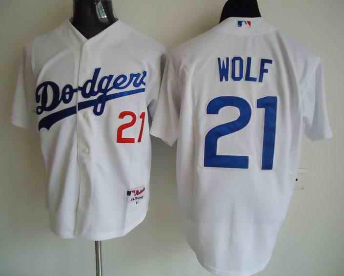 Dodgers 21 Wolf white Jerseys