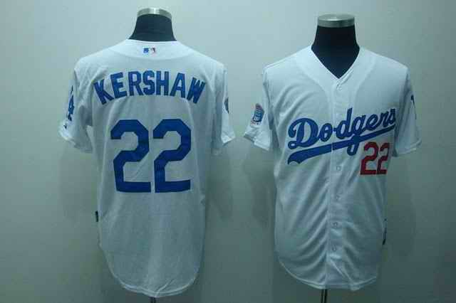 Dodgers 22 Kershaw white jerseys