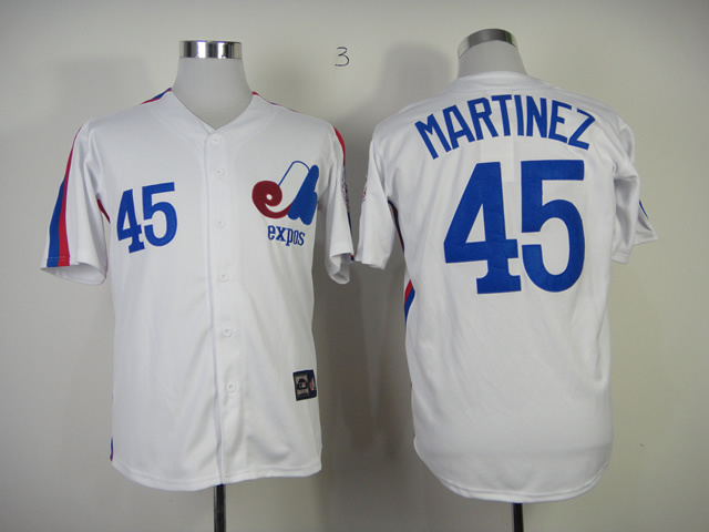 Expos 45 Martinez White Jerseys