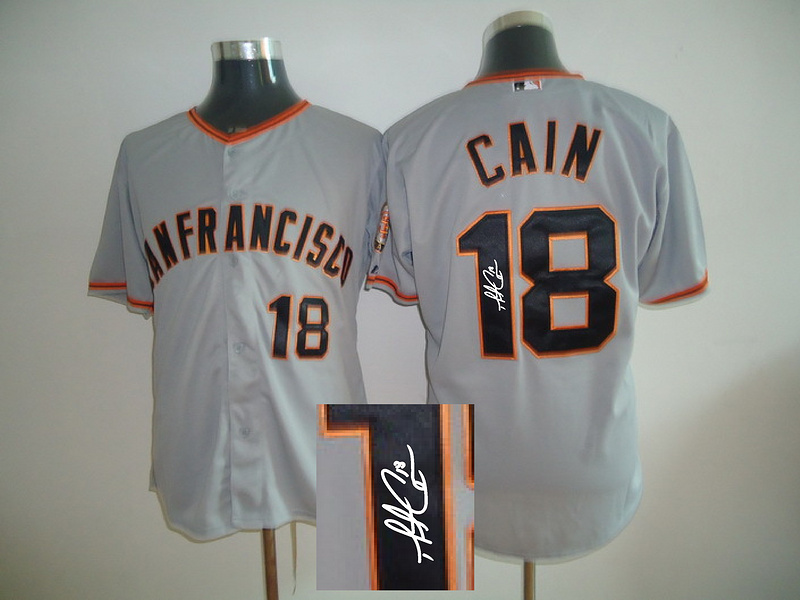 Giants 18 Cain Grey Signature Edition Jerseys