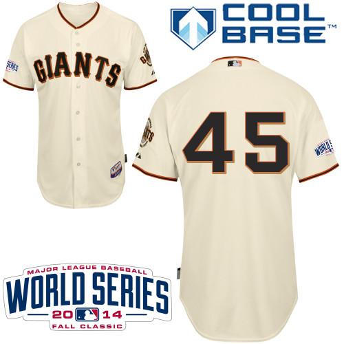 Giants 45 Ishikawa Cream 2014 World Series Cool Base Jerseys